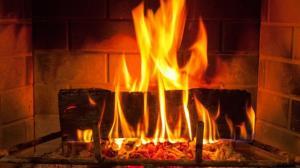 fireplace, fire